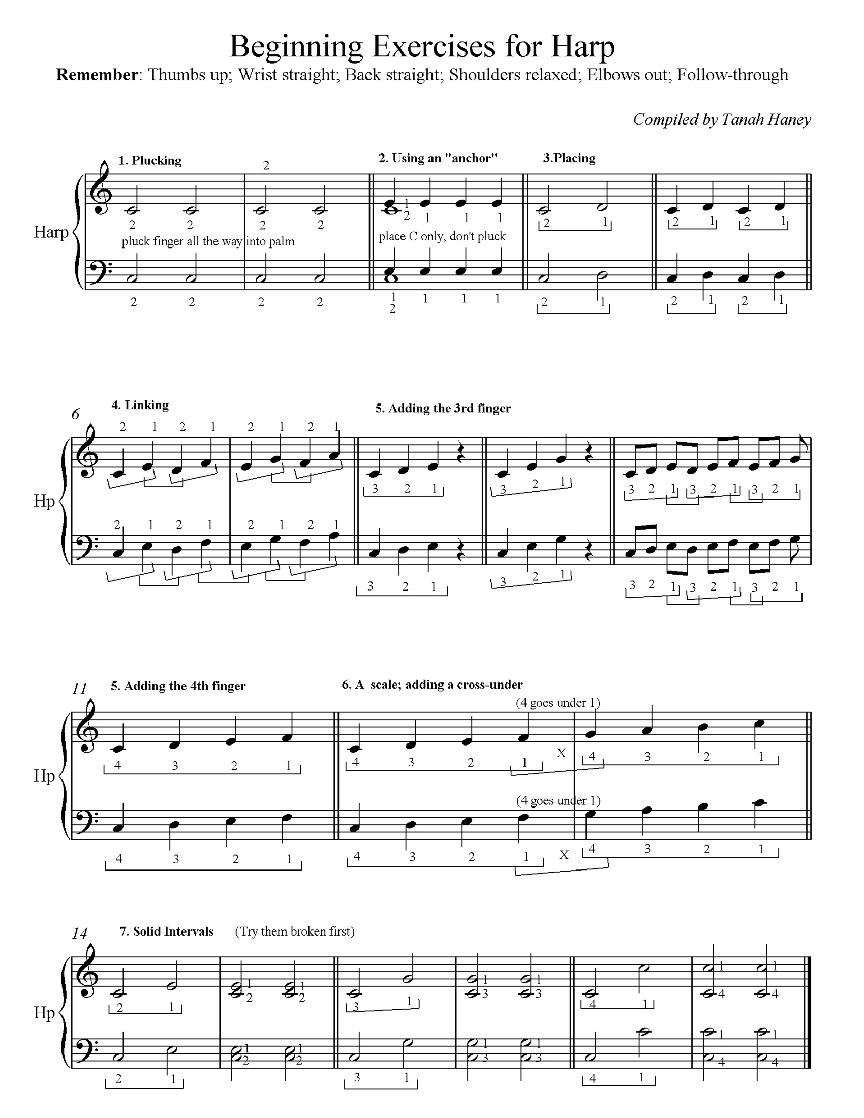 photo relating to Free Printable Lap Harp Sheet Music known as Rookie Rules Approach The Harp Weblog