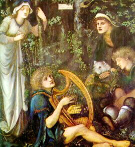 The Madness of Sir Tristam by Edward Burne Jones