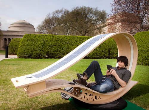 solar powered rocker